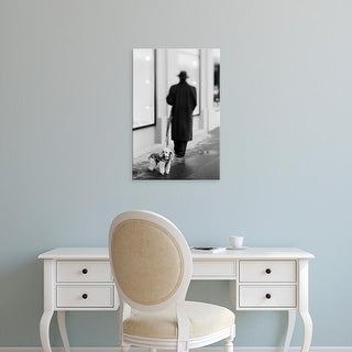 Easy Art Prints Walter Bibikow's 'Poodle With Man' Premium Canvas Art