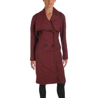 Jones New York Womens Pea Coat Winter Wool Blend