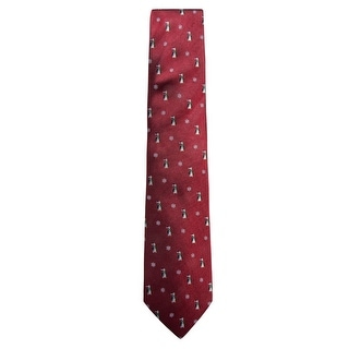 Link to Club Room Mens Penguin Self-tied Necktie, red, One Size - One Size Similar Items in Ties
