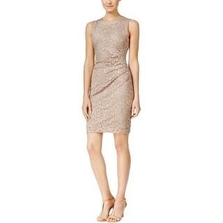 Calvin Klein Womens Casual Dress Lace Sleeveless