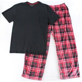 Karen Neuburger Black Mens Size 2XL Plaid Pajama Sets Sleepwear