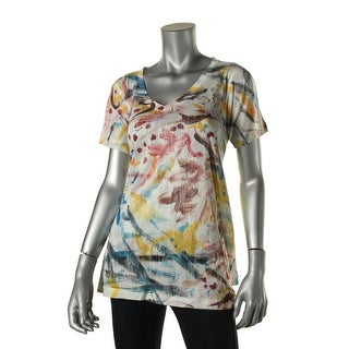 Nally & Millie Womens Printed Short Sleeves T-Shirt