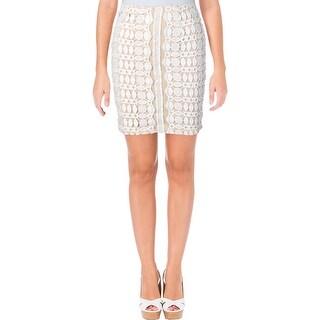 Aqua Womens Pencil Skirt Lace Stretch