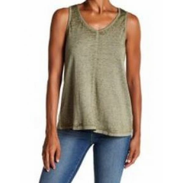 ebbb4d0af032b9 Cable   Gauge Green Women s Size Medium M Tank Swing Lattice Top. Image  Gallery