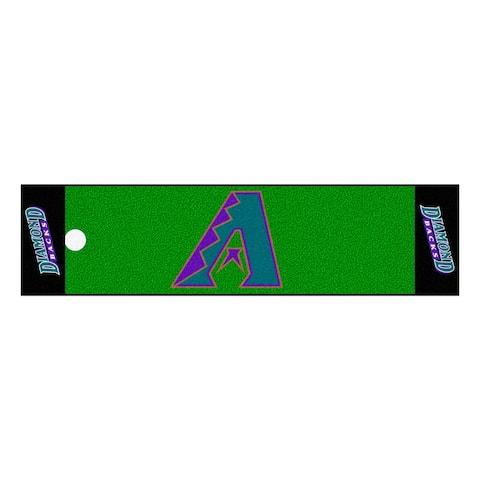 MLB - Arizona Diamondbacks Retro Collection Putting Green Mat - 1.5ft. x 6ft. - (1998) - 1.5ft. X 6ft.