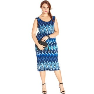 Ing Womens Plus Casual Dress Printed Scoop Neck - 2x
