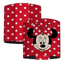 Minnie Mouse Face Polka Dots Red White Elastic Wrist Cuff