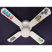 Tonka Big Rig Trucks Print Blades 42In Ceiling Fan Light Kit - Multi