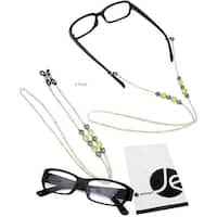 JAVOedge 2 Pack of Green Beaded Decorative Eyeglasses/ Glasses Lanyards / Neck Chain