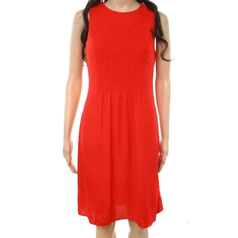 16f5747adb9cc4 Ivanka Trump Smocked Women s Chiffon Sheath Dress