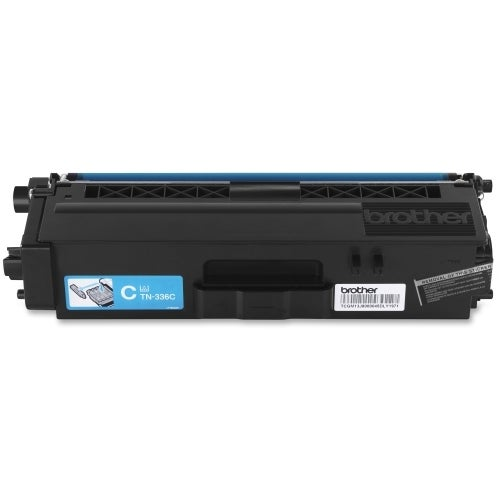 Brother TN336C Brother TN336C Toner Cartridge - Cyan - Laser - High Yield - 3500 Page - 1 / Pack