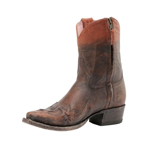 Miss Macie Western Boots Womens Weatherford Overlay Brown