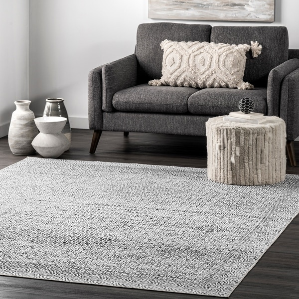 nuLOOM Hart Machine Washable Abstract Tribal Area Rug. Opens flyout.