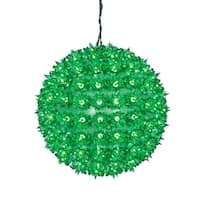 "10"" Green Lighted Twinkling Starlight Sphere Christmas Decoration"