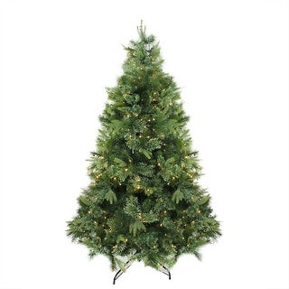 "6.5' x 49"" Pre-Lit Cashmere Mixed Pine Artificial Christmas Tree - Warm Clear LED Lights"