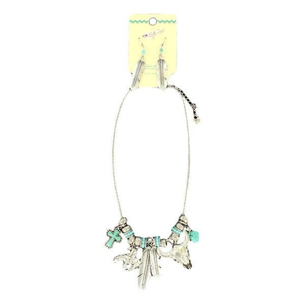 Blazin Roxx Jewelry Womens Necklace Earrings Charms Silver 29074