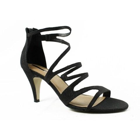 Tahari Womens 317230--M BlackSparkle Ankle Strap Heels Size 10
