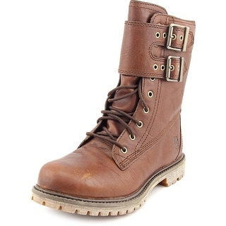 Timberland DBL Strap Women  Round Toe Leather Brown Boot