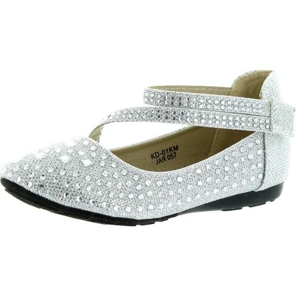 4b6b2046f5 Shop Link Kd-01Km Silver Girls Cute Rhinestone Ballet Ballerina ...