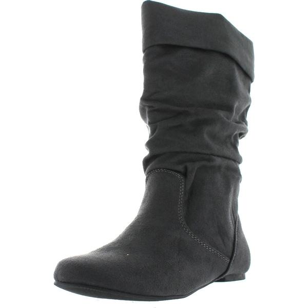 Soda Image Women's Comfortable Flat Mid Calf Boot Shoes