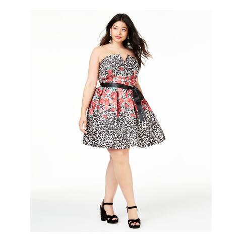 TEEZE ME Beige Sleeveless Knee Length Dress 18