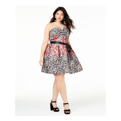 TEEZE ME Red Sleeveless Knee Length Dress 20