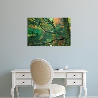 Easy Art Prints Jerry & Marcy Monkman's 'Fall Along The Lamprey River In Durham' Premium Canvas Art