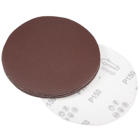 10Pcs 7 Inch Hook and Loop Sanding Disc 150 Grits Flocking Sandpaper Sander - 150 Grits