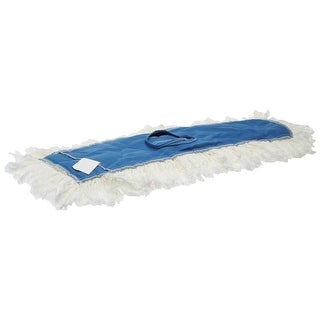 "Rubbermaid K15500WH00 Kut-A-Way Cotton Dust Mop Heads, 36"", White"