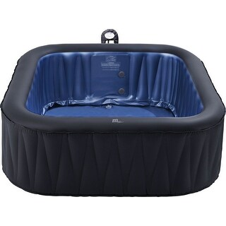 "MSpa Delight Tekapo Hot Tub, 6 Person Inflatable Bubble Spa 73""W x 73""L x 27""H"