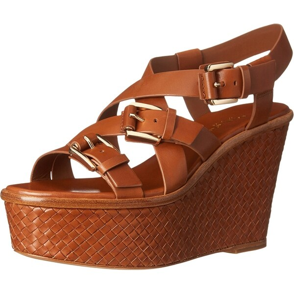 Michael Kors NEW Brown Shoes 6.5M Platforms Wedges Leather Heels