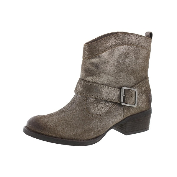 Naughty Monkey Womens Metalicah Ankle Boots Suede Shimmer