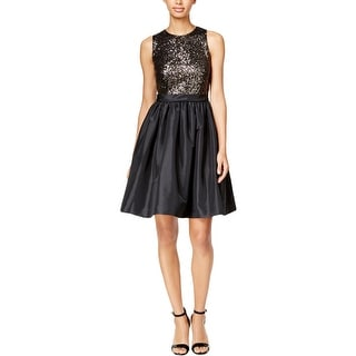 Calvin Klein Womens Semi-Formal Dress Sequined Fit & Flare