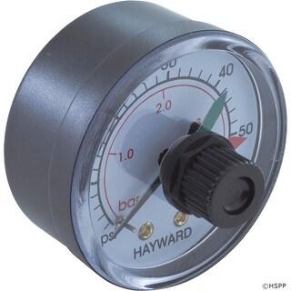 """Pressure Gauge, Hayward, 1/4""""mpt, 0-60psi, Back Mount, Adj Dial"""