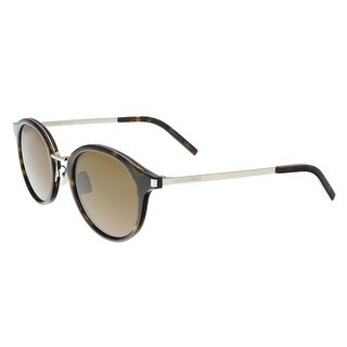 Saint Laurent SL 57-004 Havana Round Sunglasses