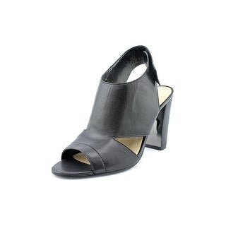 Marc Fisher Leotie Open-Toe Leather Heels