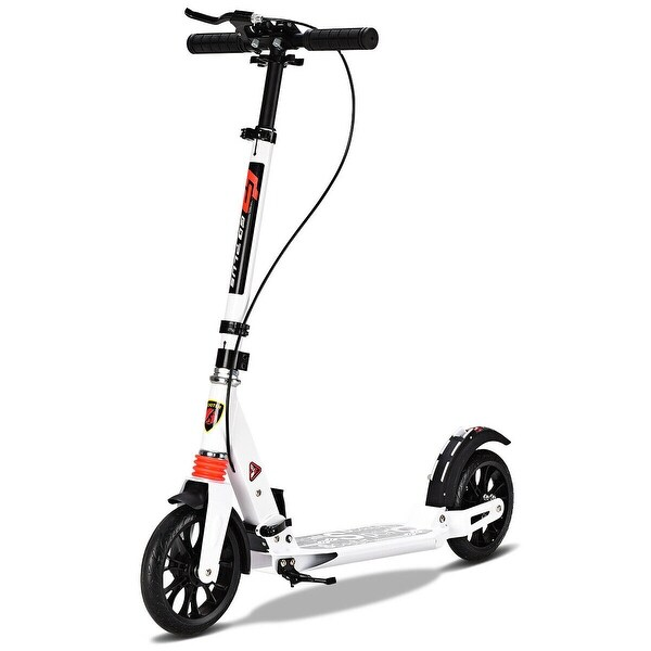 Folding Aluminum 2 Wheel Adult Kick Scooter Adjustable Height Dual Suspension