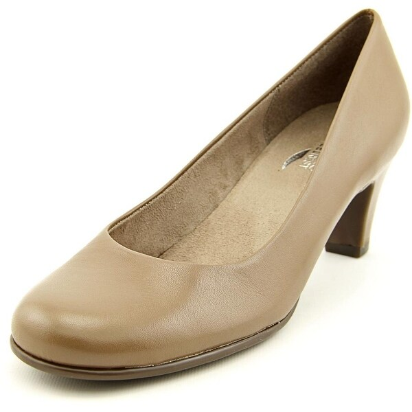Aerosoles Nice Play Women Round Toe Synthetic Tan Heels