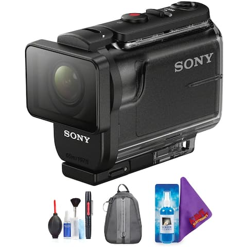 Sony HDR-AS50 Full HD Action Cam with RM-LVR3 Live-View Remote + Pro Accessories Bundle