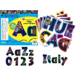 Barker Creek 4 H in Letter Pop-Outs, Italy, Set of 255