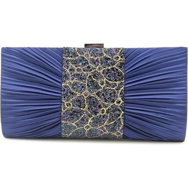 Lulu Townsend 5973094 Women Satin Blue Clutch