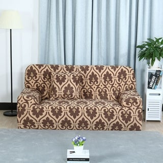 Unique Bargains Coffee Elastic Fabric Stretch Sofa Covers Sofa Slipcovers (1 2 3 Seater)