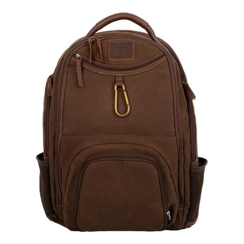 "StS Ranchwear Western Bag Womens Foreman Backpack Chocolate - 14"" W x 18"" H x 5.5"" D"