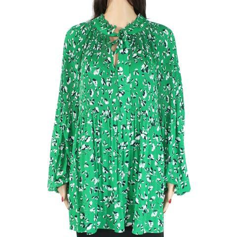 Lauren by Ralph Lauren Women's Blouse Green Size 2X Plus Printed