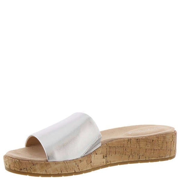 c229a7dc09a1 Easy Spirit Womens Semuscari Leather Open Toe Casual Slide Sandals - 7