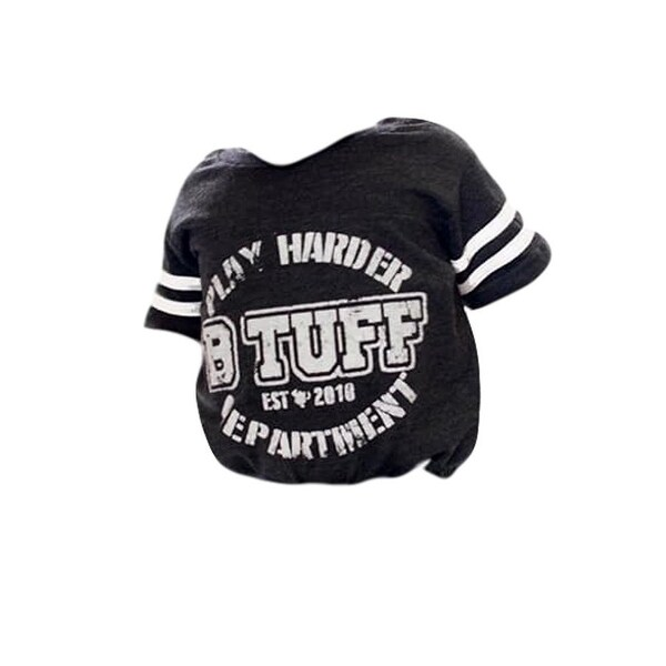 B. Tuff Western Shirt Boys Infant S/S One Piece Heather Black