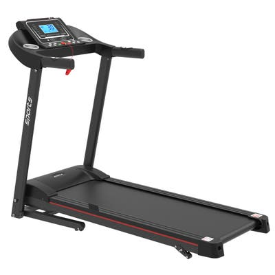 """Folding Motorized Treadmill with Manual Incline,MP3 and 5"""" LCD Display"""