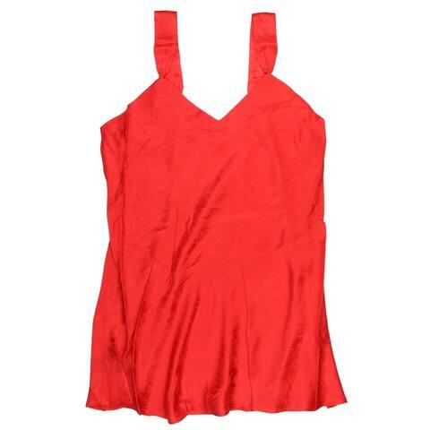 Intimo Womens Plus Size Silk Chemise Pajamas