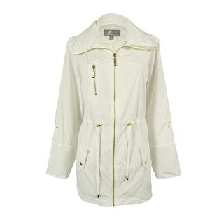 JM Collection Women's Roll-Tab-Sleeve Anorak Jacket