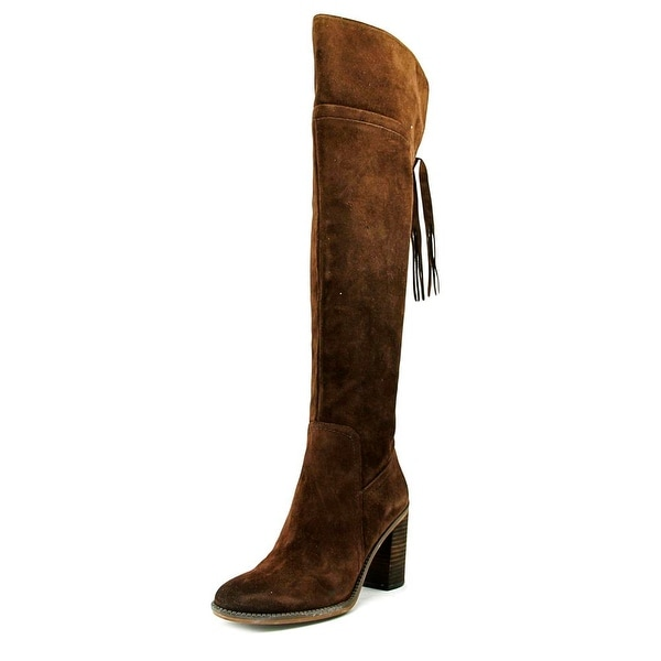 Franco Sarto Eckhart Women Round Toe Suede Brown Over the Knee Boot
